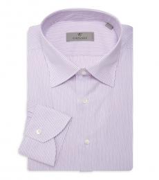 Canali Light Pink Striped Dress Shirt