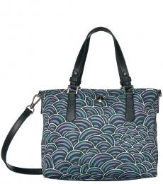 Kate Spade Green Blue Taylor Party Small Tote