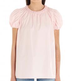 Kenzo Pink Smock Detail Cotton Top