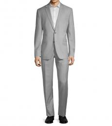 Vince Camuto Light Grey Slim-Fit Classic Wool Suit