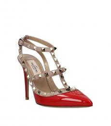 Valentino Garavani Red Rockstud Patent Heels