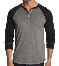 Lucky Brand Grey Long Sleeve Colorblock Henley