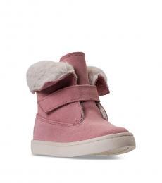Ralph Lauren Little Girls Pink Siena Booties