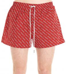 Dsquared2 Red Logo Swim Shorts