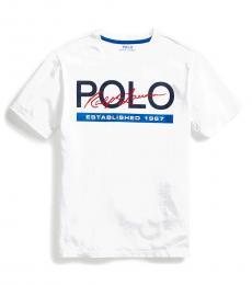 Ralph Lauren Boys White Logo T-Shirt