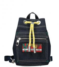 Kenzo Blue Momento Collection Small Backpack
