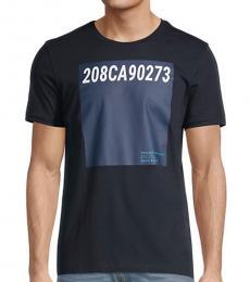 Hugo Boss Navy Blue Tessler Logo T-Shirt