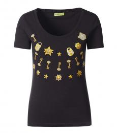 Versace Jeans Black Couture Printed Top