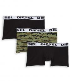 Diesel Green Kory 3-Pack Boxer Briefs