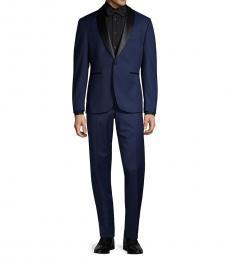 Vince Camuto Navy Blue Slim-Fit Tuxedo Suit