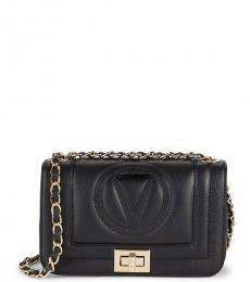 Mario Valentino Black Beatriz Logo Small Shoulder Bag