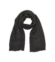 Armani Jeans Grey Fringes Solid Scarf