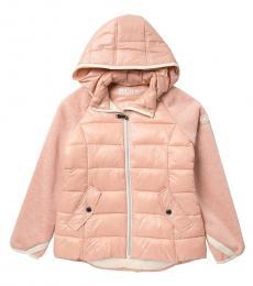 Michael Kors Girls Blush Quilted Puffer Jacket