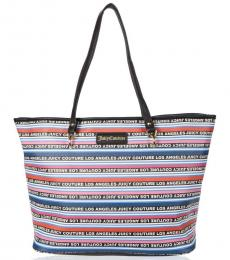 Juicy Couture Sporty Stripe Oops A Daisy Large Tote
