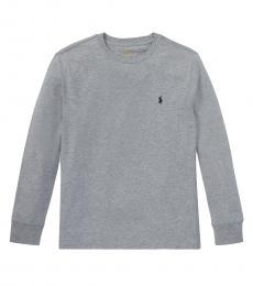 Ralph Lauren Boys Andover Heather Long Sleeve T-Shirt