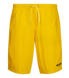 Moschino Yellow Logo Swimmimg Trunk