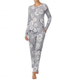 DKNY Grey Floral PJ Set