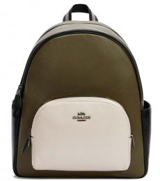 Coach Brown Court Large Backpack