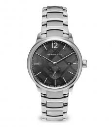 Burberry Silver Classic Grey Dial Watch