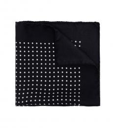 Ralph Lauren Black Polka dot Pocket Square