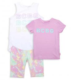 BCBGirls 3 Piece Top/T-Shirt/Shorts Set (Little Girls)