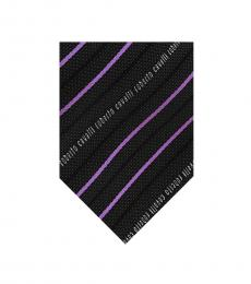 Dark Grey Regimental Stripe Tie