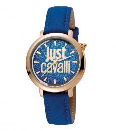 Just Cavalli Blue Gleaming Watch