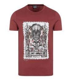 Just Cavalli Cherry Front Graphic Logo T-Shirt
