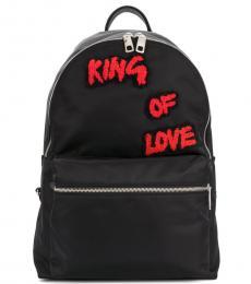 Dolce & Gabbana Black King Of Love Large Backpack