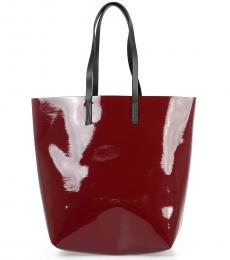 Marni Red Shopping Large Tote