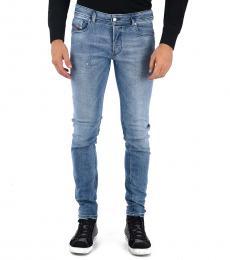 Blue Stretch Denim Sleenker Jeans