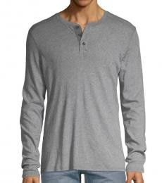 AG Adriano Goldschmied Heather Grey Heathered Henley
