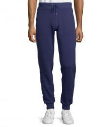 Navy Felpa Tapered Sweatpants