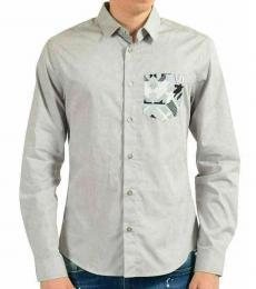Grey Slim Long Sleeve Casual Shirt