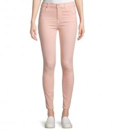 Peach High-Rise Ankle Skinny Jeans