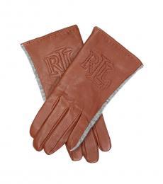Ralph Lauren Tan Touch Screen Gloves