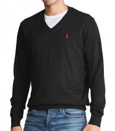 Polo Black V-Neck Sweater