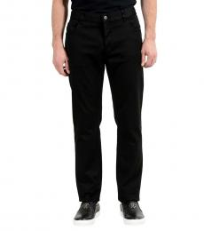 Black Stretch Straight Leg Jeans