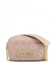 Love Moschino Light Pink Front Pocket Small Crossbody