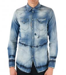 Blue Denim Stone Washed Shirt