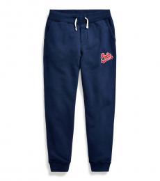 Ralph Lauren Little Boys Newport Navy Logo-Patch Pants