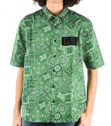 Dark Green Allover Print Fry Shirt