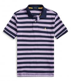 Ralph Lauren Boys English Lavender Striped Polo