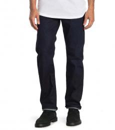 7 For All Mankind Dark Blue Standard Straight Jeans