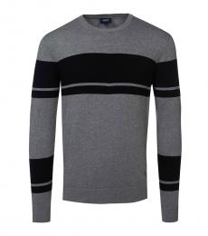 Armani Jeans Dark Grey Colorblock Sweater
