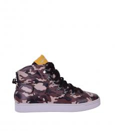 Dolce & Gabbana Brown Beige Camo Print Sneakers