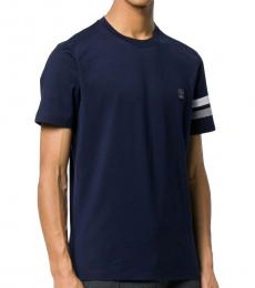 Navy Blue Embroidered Logo T-Shirt