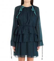 Kenzo Blue Ruffled Dress