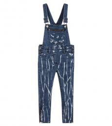 Stella McCartney Little Girls Blue Tie Dye Dungarees