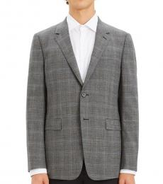 Grey Chambers Plaid Print Jacket